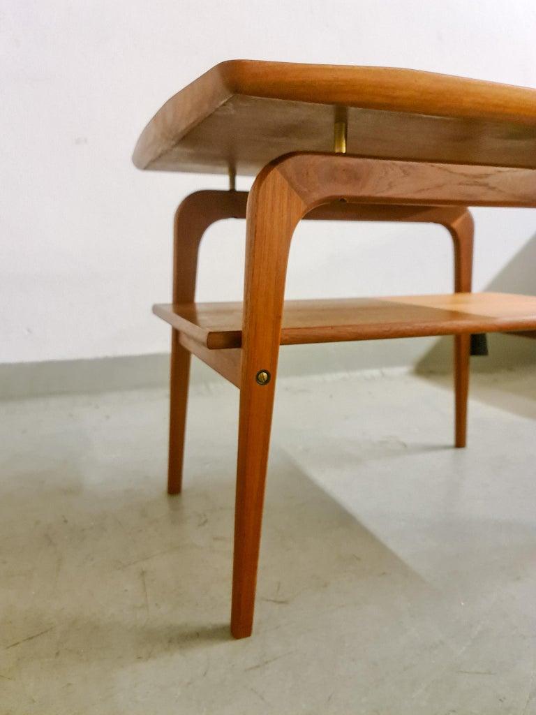Mid-20th Century Midcentury Sidetable Arne Hovmand-Olsen for Mogens Kold in Teak For Sale