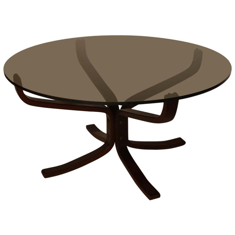Midcentury Sigurd Resell Rosewood Falcon Coffee Table For Sale