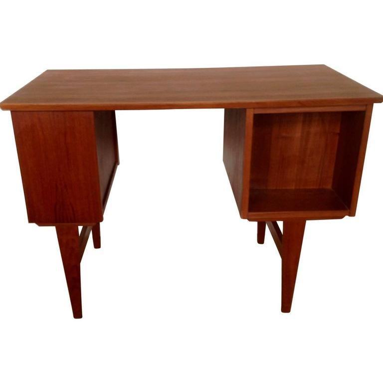 Mid-Century Modern Midcentury Small Danish Teak Desk