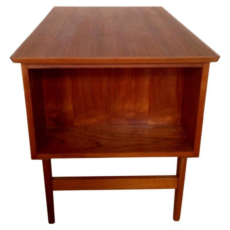 20th Century Midcentury Small Danish Teak Desk