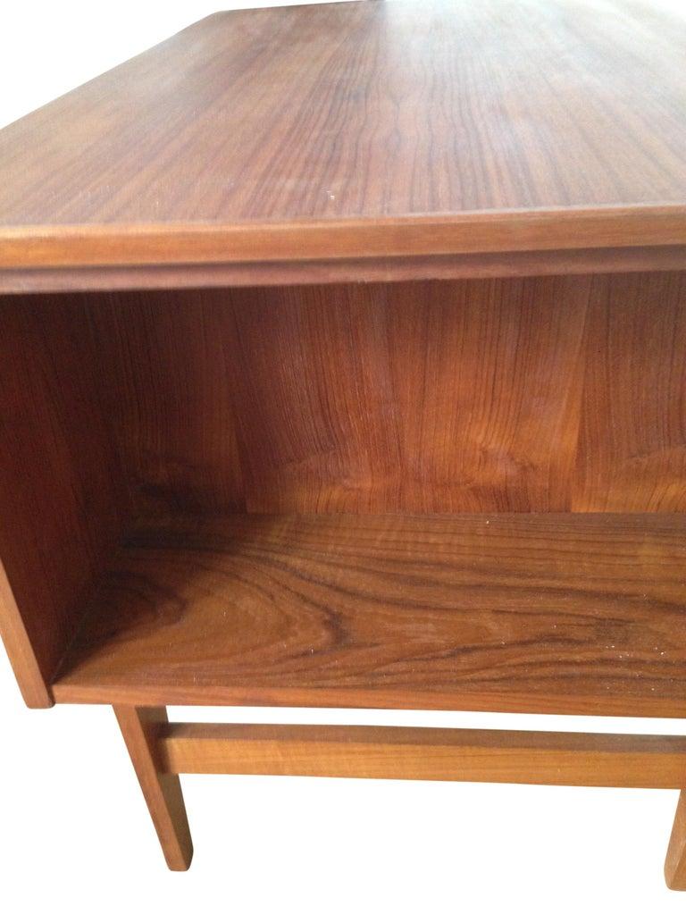 Midcentury Small Danish Teak Desk 1