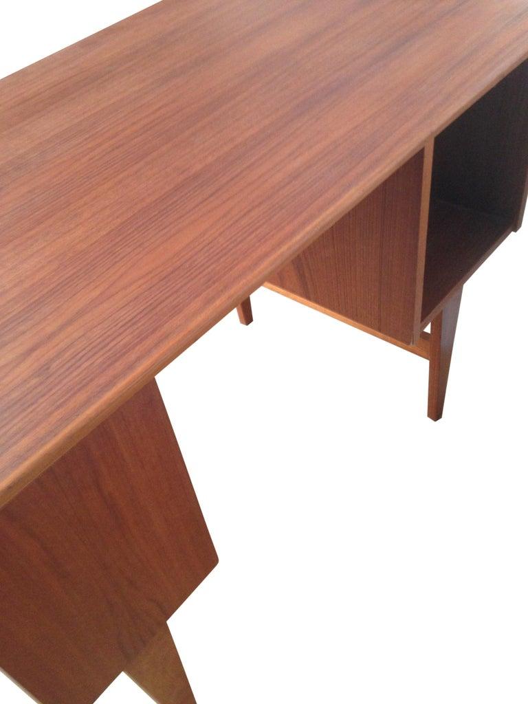 Midcentury Small Danish Teak Desk 2