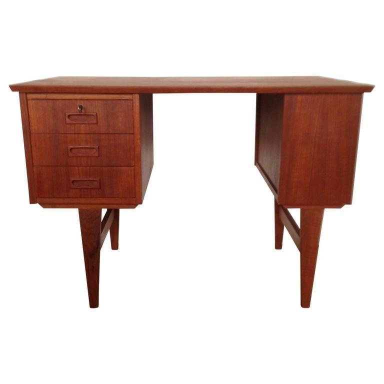 Midcentury Small Danish Teak Desk