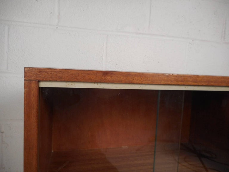 Midcentury Small Walnut Bookshelf or Cabinet For Sale 5