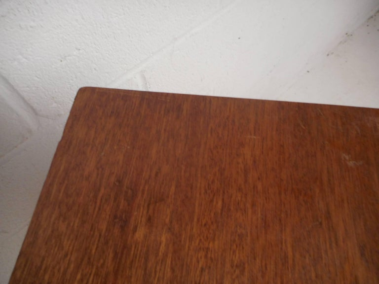 Midcentury Small Walnut Bookshelf or Cabinet For Sale 6
