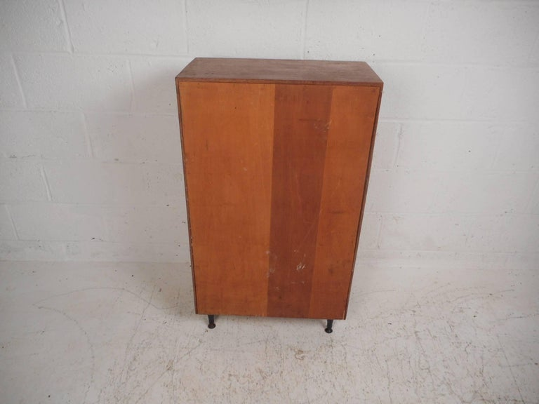 Late 20th Century Midcentury Small Walnut Bookshelf or Cabinet For Sale