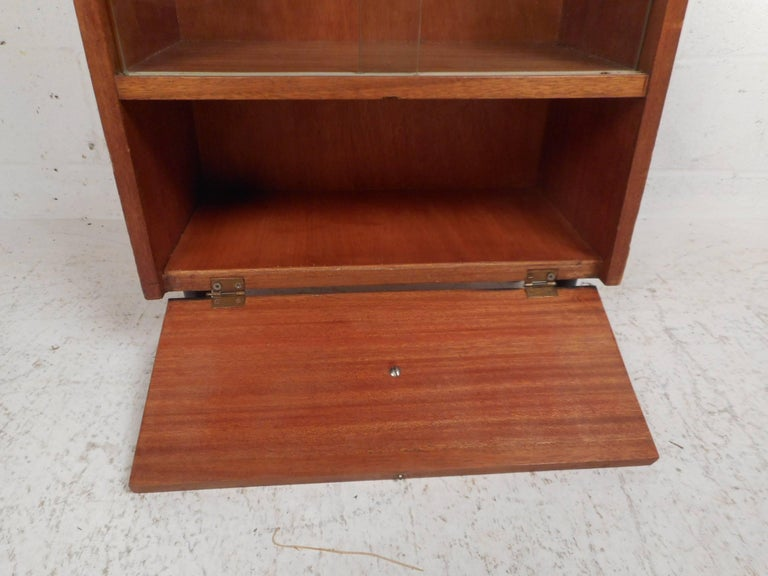 Midcentury Small Walnut Bookshelf or Cabinet For Sale 2