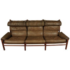 Midcentury Sofa Designed by Arne Norell, Model Inca, circa 1970