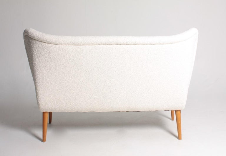 Midcentury Sofa in Boucle Designed by Elias Svedberg, 1950s Swedish Modern For Sale 4