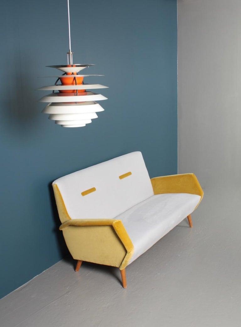 Midcentury Sofa in French Velvet by Gio Ponti, 1950s 3