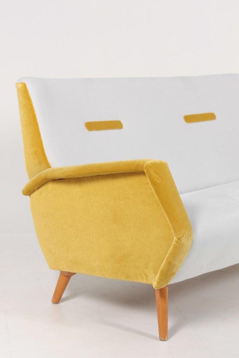 Italian Midcentury Sofa in French Velvet by Gio Ponti, 1950s