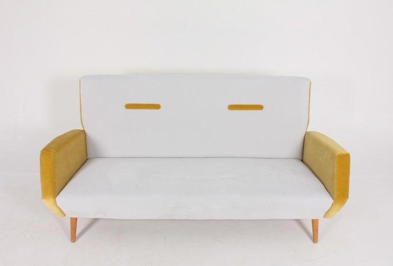 Mid-20th Century Midcentury Sofa in French Velvet by Gio Ponti, 1950s