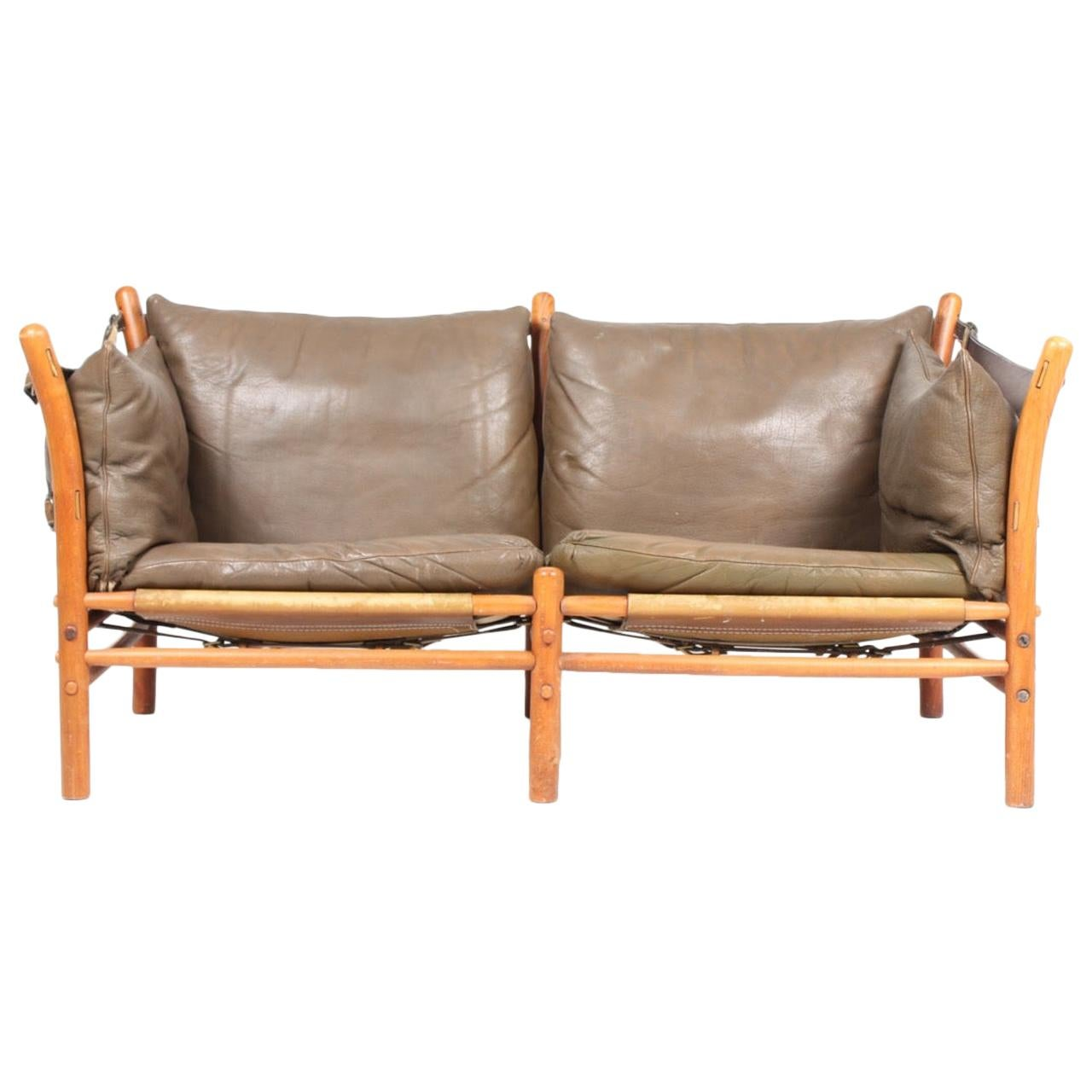 Wondrous Rare Arne Norell Ilona Sofa In Brown Leather Sweden 1960S Beatyapartments Chair Design Images Beatyapartmentscom