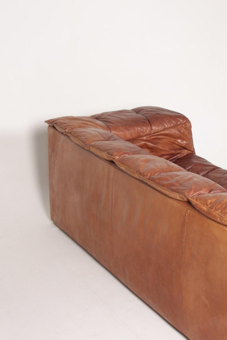 Midcentury Sofa in Patinated Leather by Eilersen, 1980s 4