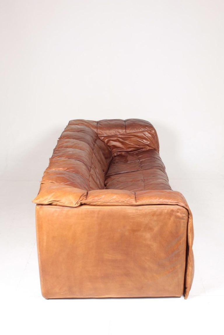 Midcentury Sofa in Patinated Leather by Eilersen, 1980s 2