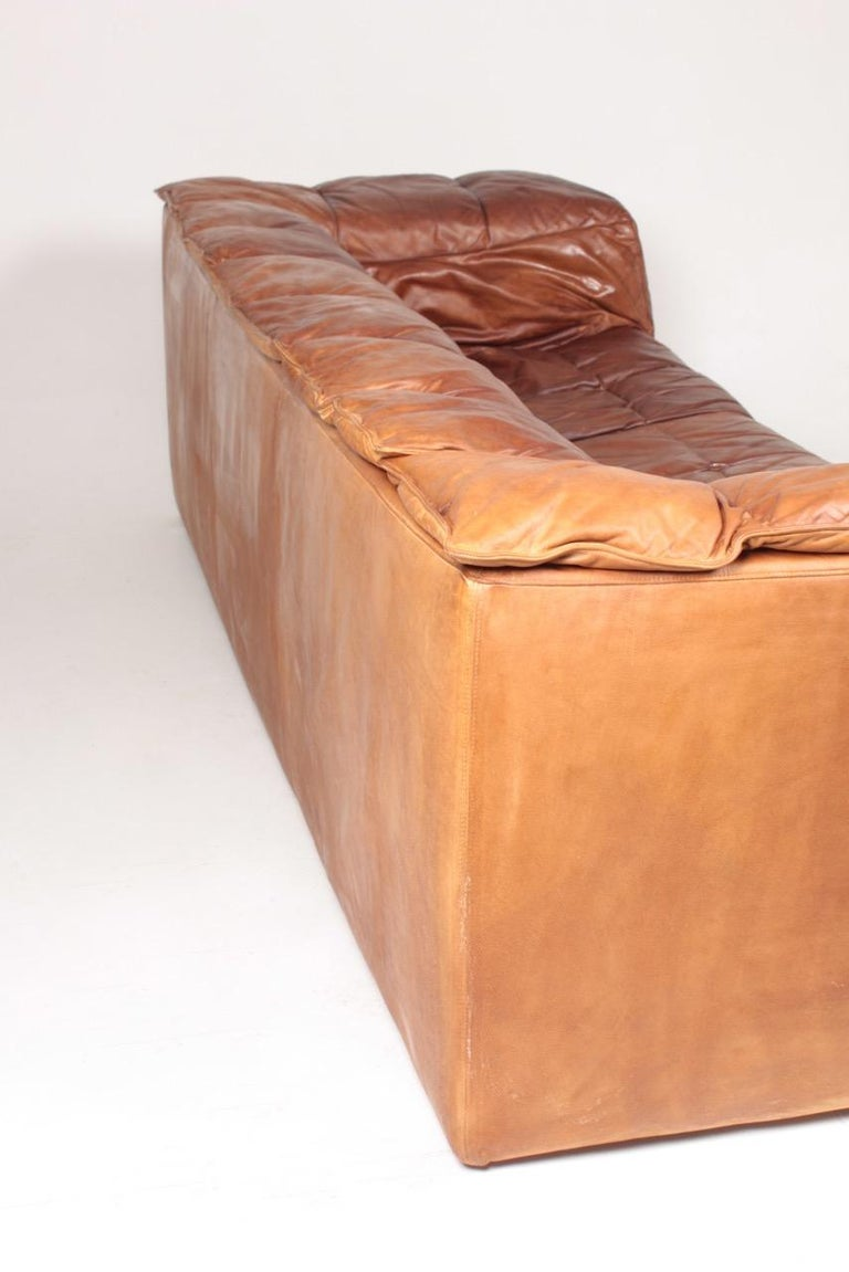 Midcentury Sofa in Patinated Leather by Eilersen, 1980s 3