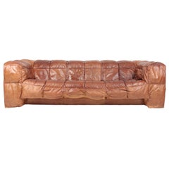 Midcentury Sofa in Patinated Leather by Eilersen, 1980s