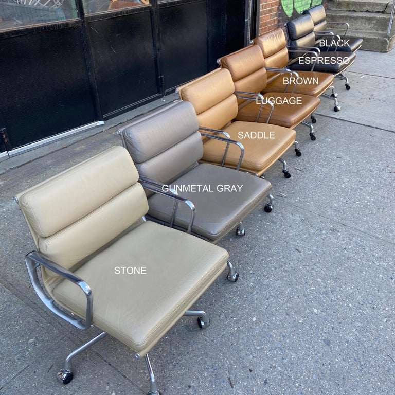 Midcentury Soft Pad Chairs by Eames for Herman Miller 4