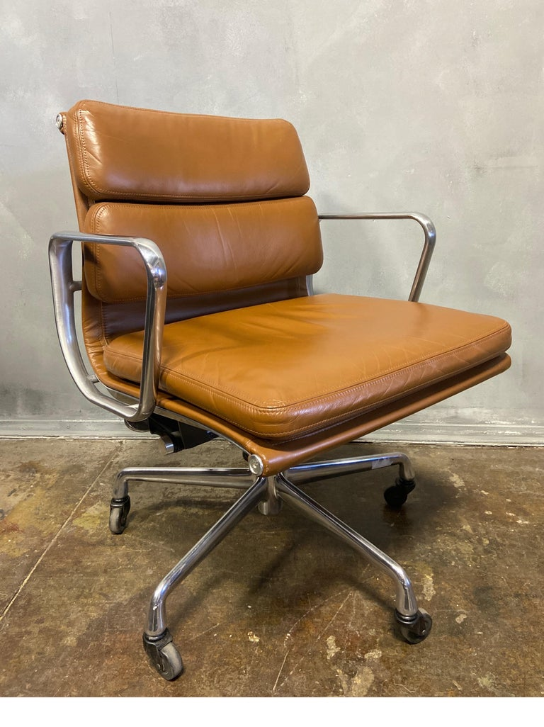 Aluminum Midcentury Soft Pad Chairs by Eames for Herman Miller