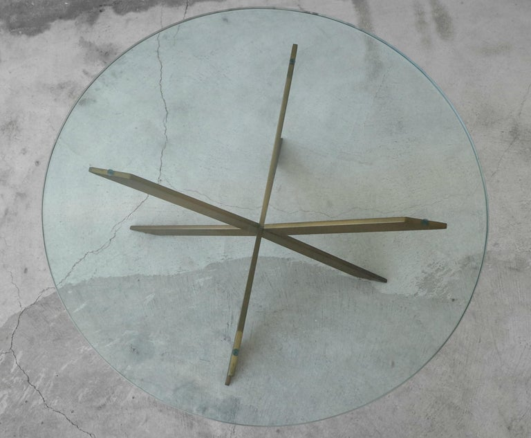 Midcentury Solid Bronze Base Coffee Table by Pace In Good Condition For Sale In Las Vegas, NV