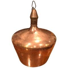 Mid Century Solid Copper Chandelier
