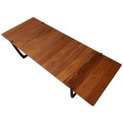Midcentury Solid Danish Teak Coffee Table