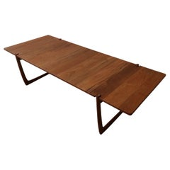 Midcentury Solid Danish Teak Coffee Table
