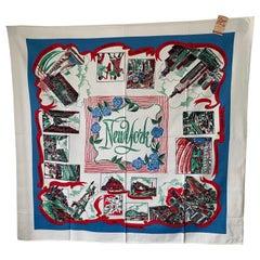 Midcentury Souvenir New York City Square Table Cloth