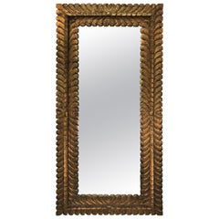 Midcentury Spanish Gold Leaf Mirror