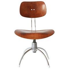 Midcentury Spring Swivel Office Chair SE 40 by Egon Eiermann for Wilde + Spieth