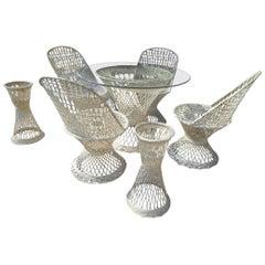 Midcentury Spun Fiberglass Patio Set by Russell Woodard