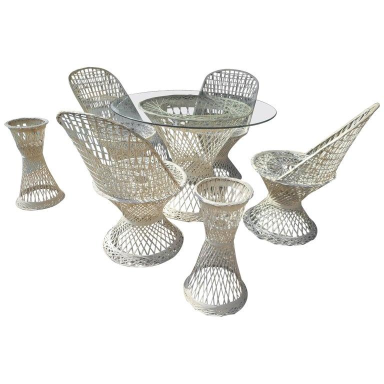 Midcentury Spun Fiberglass Patio Set by Russell Woodard For Sale