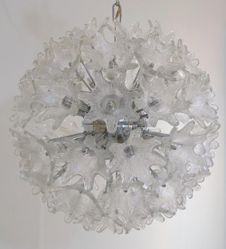 Mid-Century Modern Midcentury Sputnik Chandelier by Paolo Venini for VeArt Murano, Italy For Sale
