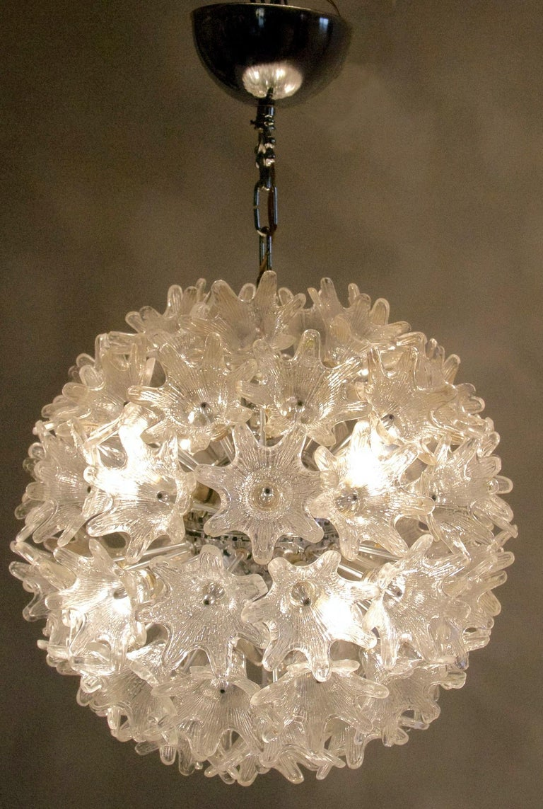 Italian Midcentury Sputnik Chandelier by Paolo Venini for VeArt Murano, Italy For Sale