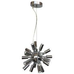 Midcentury Sputnik Chandelier Light Fixture in Polished Chrome, 1960s