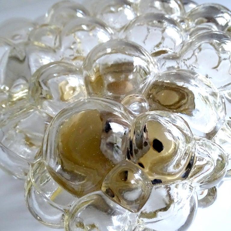 Midcentury Square Limburg Bubble Glass Sconce Flush Light, 1960s For Sale 8