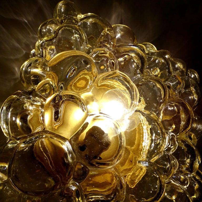 Midcentury Square Limburg Bubble Glass Sconce Flush Light, 1960s For Sale 9