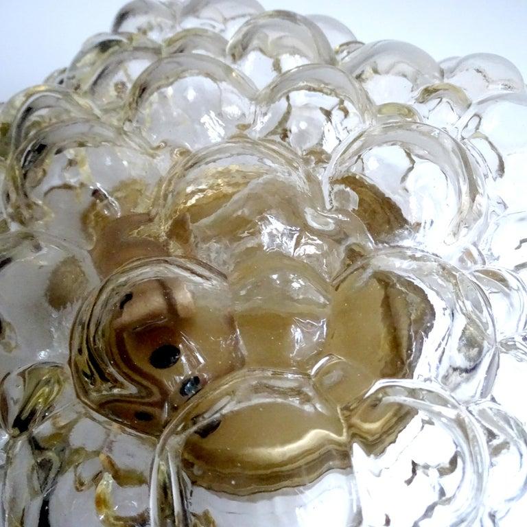 Midcentury Square Limburg Bubble Glass Sconce Flush Light, 1960s For Sale 10