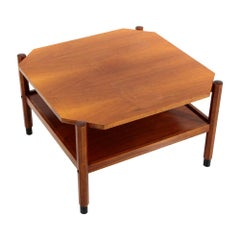 Midcentury Square Teak Coffee Table, 1960s