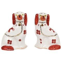 Midcentury Staffordshire Ceramic Dogs