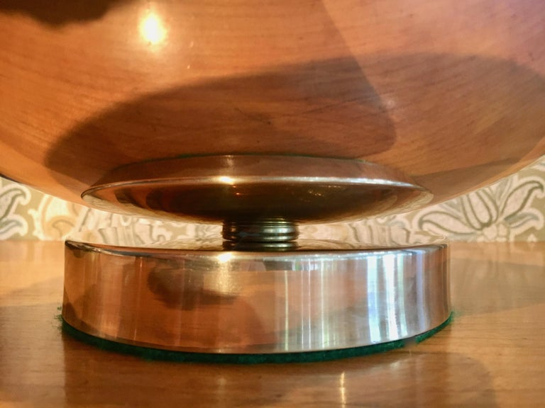Midcentury Stainless and Brass Footed Bowl For Sale 1