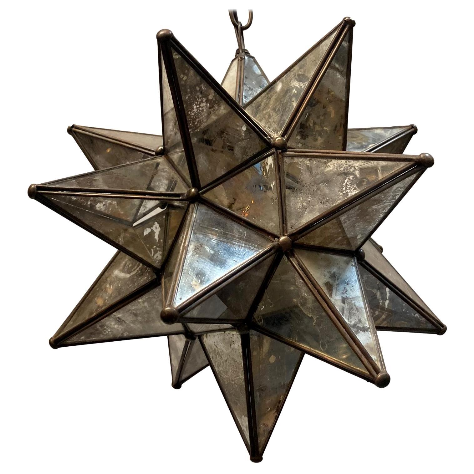 Midcentury Star Shaped Light Fixture
