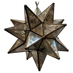 Midcentury Star Shaped Light Fixture