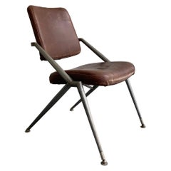 Midcentury Steel and Leather Office Chair by Cramer