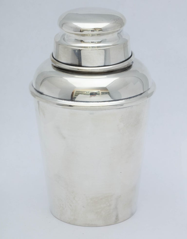 American Midcentury Sterling Silver Cocktail Shaker For Sale