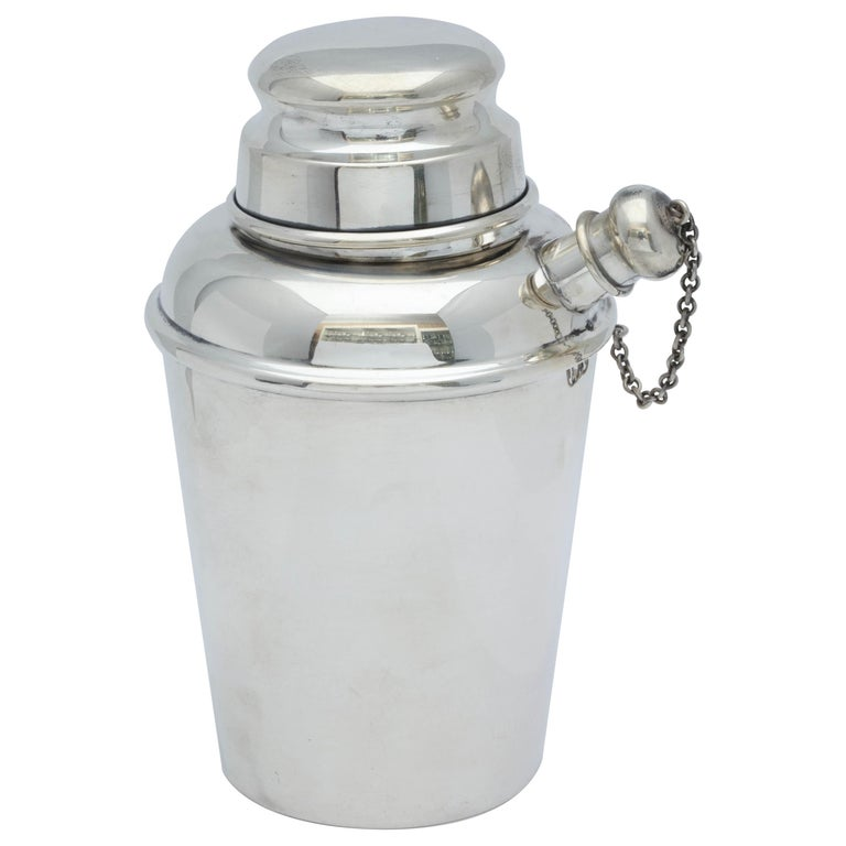 Midcentury Sterling Silver Cocktail Shaker For Sale