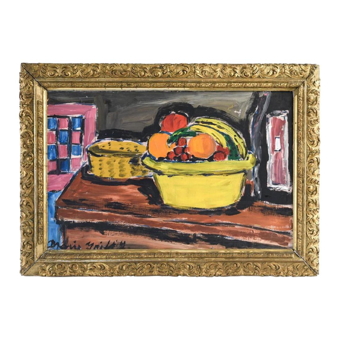 Midcentury Still Life Oil Painting