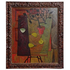 """Midcentury """"Still Life with Pears"""" by Walter Redding"""