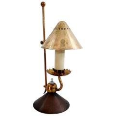 Midcentury Stilnovo Brass Night Lamp, Made in Italy