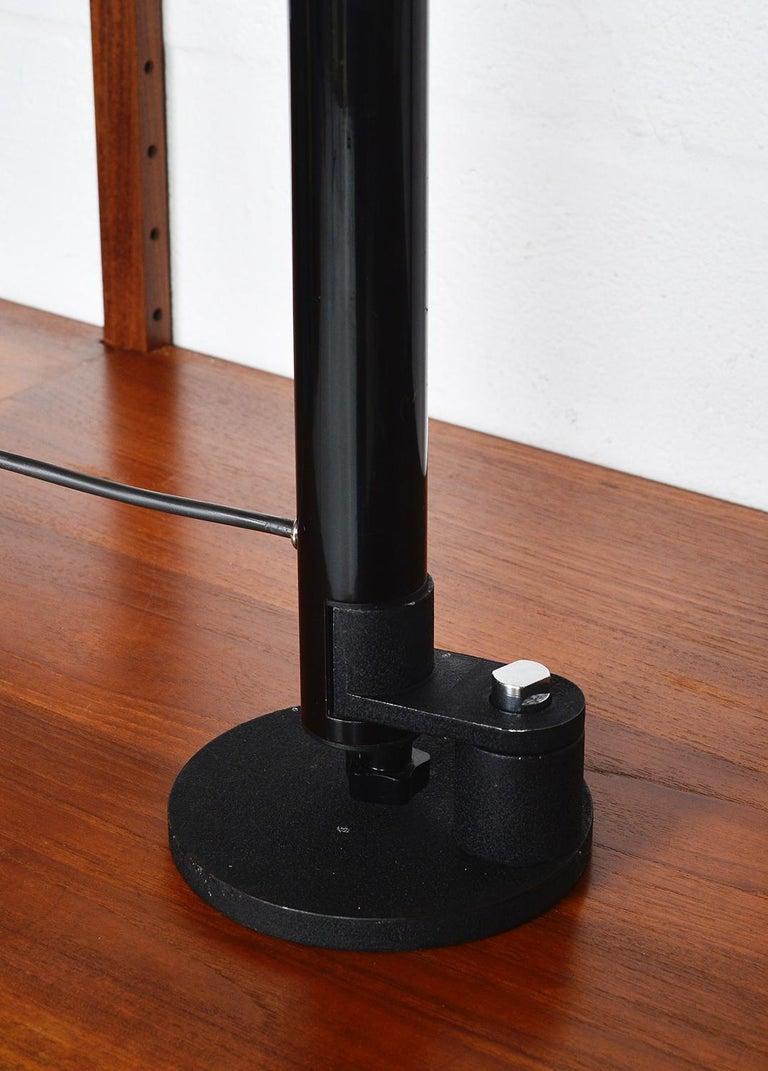 Midcentury Stilnovo Italian Periscopio Black Desk Table Lamp by D&C Aroldi, 1968 For Sale 3